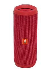 JBL Flip 4 Waterproof Portable Wireless Bluetooth Speaker, Red