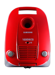 Samsung 1600-Watt Canister Vacuum Cleaner, SC4130, Red