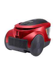 LG 2000-Watt Canister Vacuum Cleaner, VC5320NNT, Black/Red