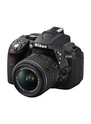Nikon D5300 DSLR Camera, 24.2MP, Full HD, 18-55mm VR Lens Kit, Black