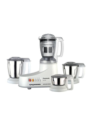 Panasonic 4-Jar Mixer & Grinder, 550W, MX-AC400, White
