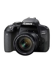 Canon EOS 800D DSLR Camera, 24.2MP, Full HD, 18-55mm IS STM Lens Kit, Black