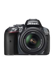 Nikon D5300 DSLR Camera, 24.2MP, Full HD, 18-55mm VR Lens Kit, Grey