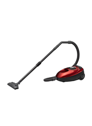 Hitachi 1600-Watt Canister Vacuum Cleaner, CVW160024CBSWR/SPG, Wine/Red