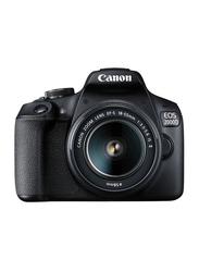 Canon EOS 2000D DSLR Camera, 24.2MP, Full HD, EF-S 18-55mm IS II Lens Kit, Black