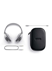 Bose QuietComfort 35 II Wireless Over-Ear Noise Cancelling Headphones with Mic, Silver