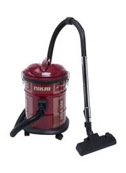 Nikai 1600-Watt Drum Vacuum Cleaner, NVC950T, Red
