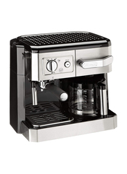 Delonghi Espresso & Drip Coffee Maker, BCO420, Silver/Black