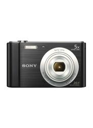 Sony DSC-W800 CyberShot Point & Shoot Digital Camera, 20.1MP, HD, Black/Silver
