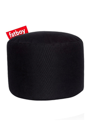 Fatboy Point Stonewashed Indoor Pouf, Black