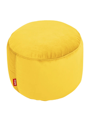 Fatboy Point Velvet Indoor Pouf, Maize Yellow