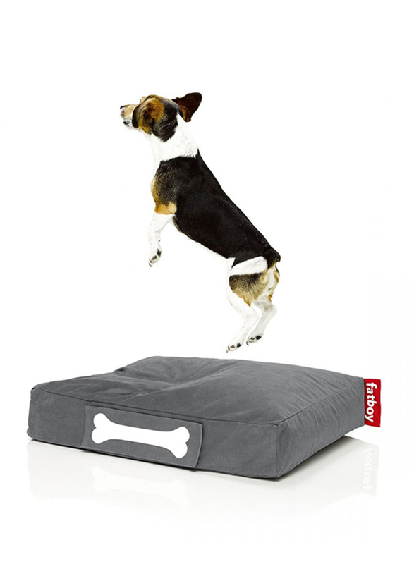 Fatboy Doggie Indoor Stonewashed Lounge Small Bed, Grey