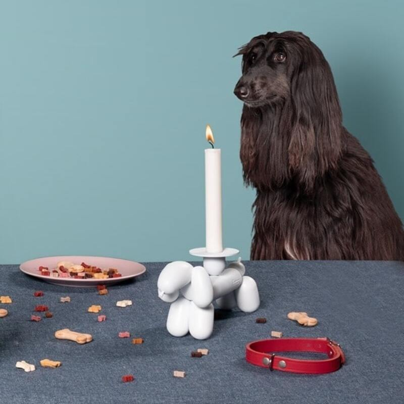 Fatboy Can-Dog Candle Holder, White