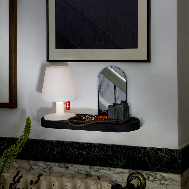 Fatboy Edison The Petit Residence Indoor Wall Shelf, Anthracite Black