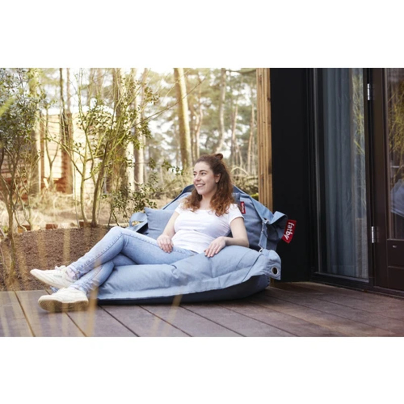 Fatboy Buggle Up Outdoor Bean Bag, Mineral Blue