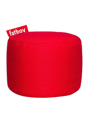 Fatboy Point Stonewashed Indoor Pouf, Red