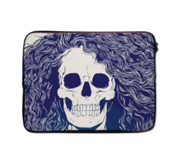 Loud Universe Girl Zombie Funny Zombie High Quality Neoprene Laptop Case, Multicolor