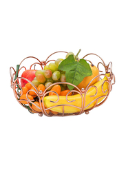 RoyalFord Stainless Steel Round Fruit Basket, RF9440, Rose Gold