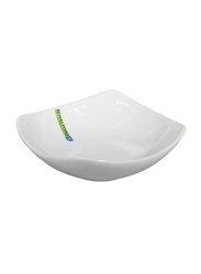 RoyalFord 6-inch Porcelain Magnesia Square Soup Bowl, RF9255, White