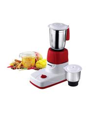 Geepas 1.5L 2-in-1 Mixer Grinder, 550W, Stainless Steel Jar, GSB5456, White/Red