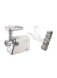 Geepas Plastic Body Auto Meat Grinder, 1500W, GMG765, White