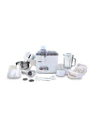 Geepas 10-in-1 Super Blender Juicer, 400W, GSB1650, White