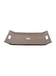 RoyalFord 37cm Wooden Finish Serving Tray, RF9221, 37x28 cm, Brown