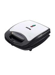 Geepas 2-in-1 Detachable Sandwich Maker, 920W, GSM5444, Silver/Black