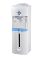 Olsenmark Top Load Hot & Cold Water Dispenser With Refrigerator Cabinet, Cup Holder, OMWD1732, White