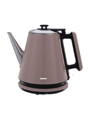 Geepas 1.2L Electric Stainless Steel Double Layer Kettle, 1360W, GK38012, Brown