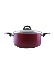 RoyalFord 30cm Non-Stick Casserole with Lid, RF1255C30, Red