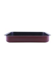 RoyalFord 32cm Aluminium Non-Stick Square Baking Pan, RF1147-SP32, 32x5.5x26.8cm, Red
