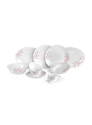 RoyalFord 34-Pieces Opal Ware Dinnerware Set, RF8986, White