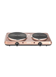 Geepas Electric Double Hot Plate, GHP7587, Rose Gold