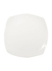 RoyalFord 7.0-inch Porcelain Ware Square Dessert Serveware Flat Plate, RF8758, White