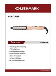 Olsenmark Hair Curler, 26W, with Ceramic Coated Tongs, OMH4064, Rose Gold