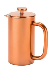 RoyalFord 800ml Double Wall Stainless Steel French Press Coffee Maker, RFU9017, Rose Gold