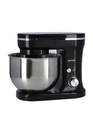 Krypton 6-Speed Electric Hand & Stand Mixer with 5 L Stainless Steel Bowl, 800W, KNSM6229, Black/Silver