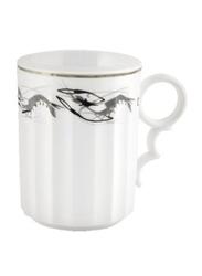 RoyalFord 12oz Stoneware Bone Wave Mug, RF6685, White