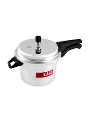 Delcasa 2-Pieces Aluminium Pressure Cooker, DC1124, Silver