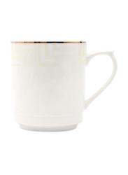 RoyalFord 11oz Stoneware Bone Wave Mug, RF6691, White