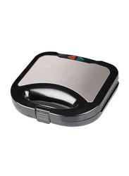 Olsenmark Non-Stick Coated Sandwich Maker, 750W, with Temperature Control, OMGM2321, Silver/Black