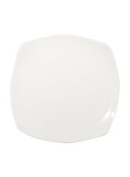 RoyalFord 10-inch Porcelain Ware Square Dessert Serveware Flat Plate, RF8756, White