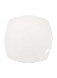 RoyalFord 7.5-inch Porcelain Ware Square Dessert Serveware Flat Plate, RF8757, White