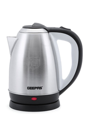 Geepas 1.8L Electric Stainless Steel Kettle, 1400W, with Auto Cut Off, GK5466, Silver