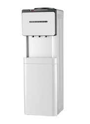 Geepas Top Load Water Dispenser, 1L Hot Water, 2.8L Cold Water, with Refrigerator Cabinet, Cup Holder, GWD8355, White