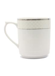 RoyalFord 11oz Stoneware Bone Wave Mug, RF6692, White