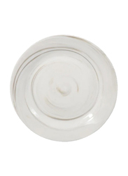 RoyalFord 10.5-inch New Bone Marble Round Dinner Plate, RF9246, White