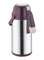 RoyalFord 4.5Ltr Stainless Steel Doublewall Airpot Flask, RF8555, Maroon/Silver