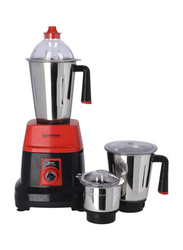 Krypton 3 In 1 Mixer Grinder with Stainless Steel Blades & Unbreakable Lids, 550W, KNB6192, Red/Black
